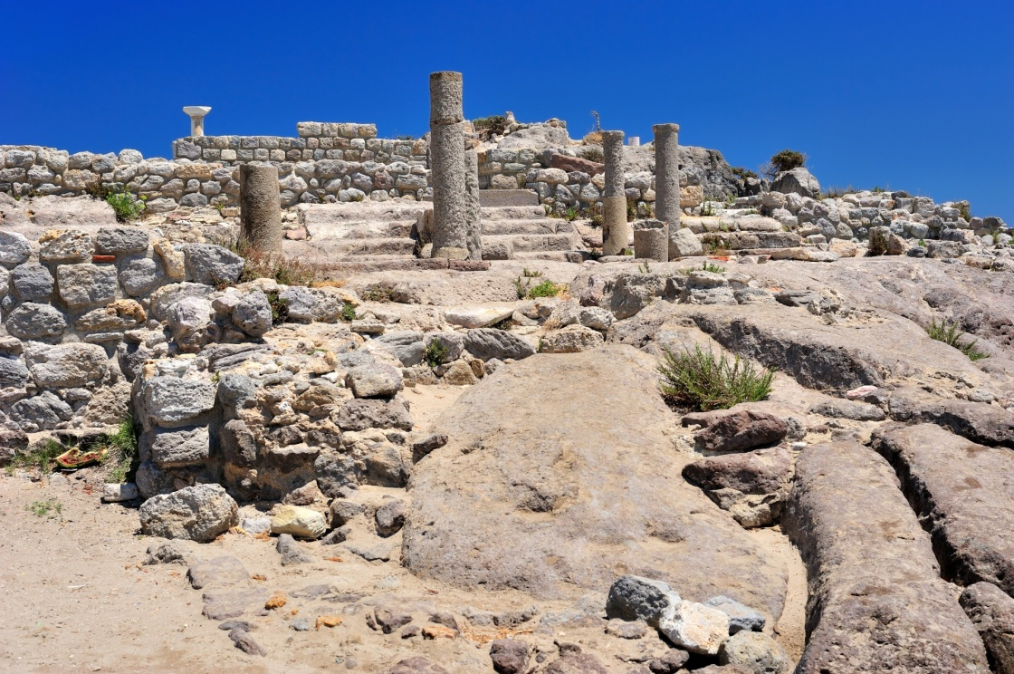 'Ruins of ancient town Astipalea in Kefalos (Kos island, Greece)' - Kos