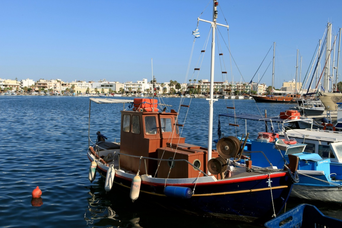 'Wooden fishing boat in the port' - Kos